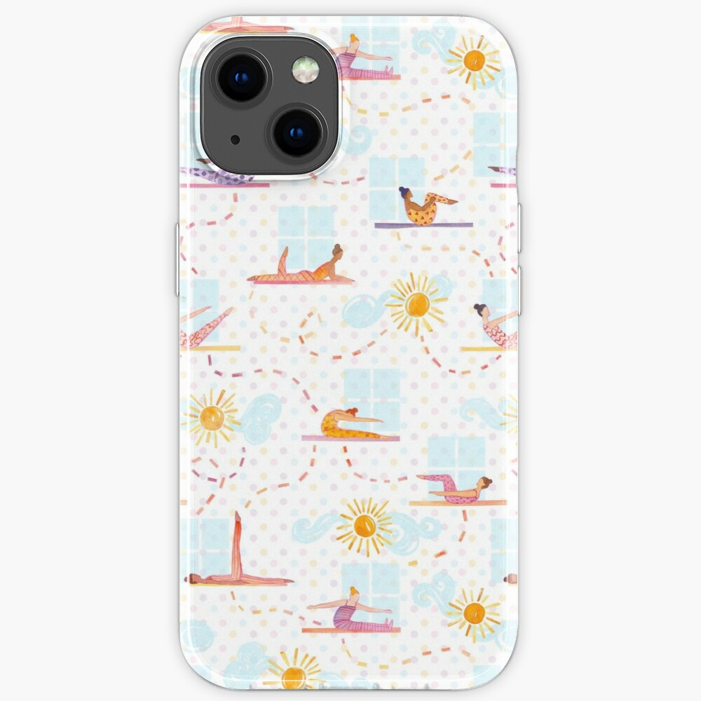 Morning Pilates - Watercolor iPhone Case
