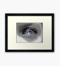 A Childs Eye View Of The World Framed Print