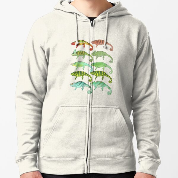 Collection of Chameleons Release 1 Zipped Hoodie