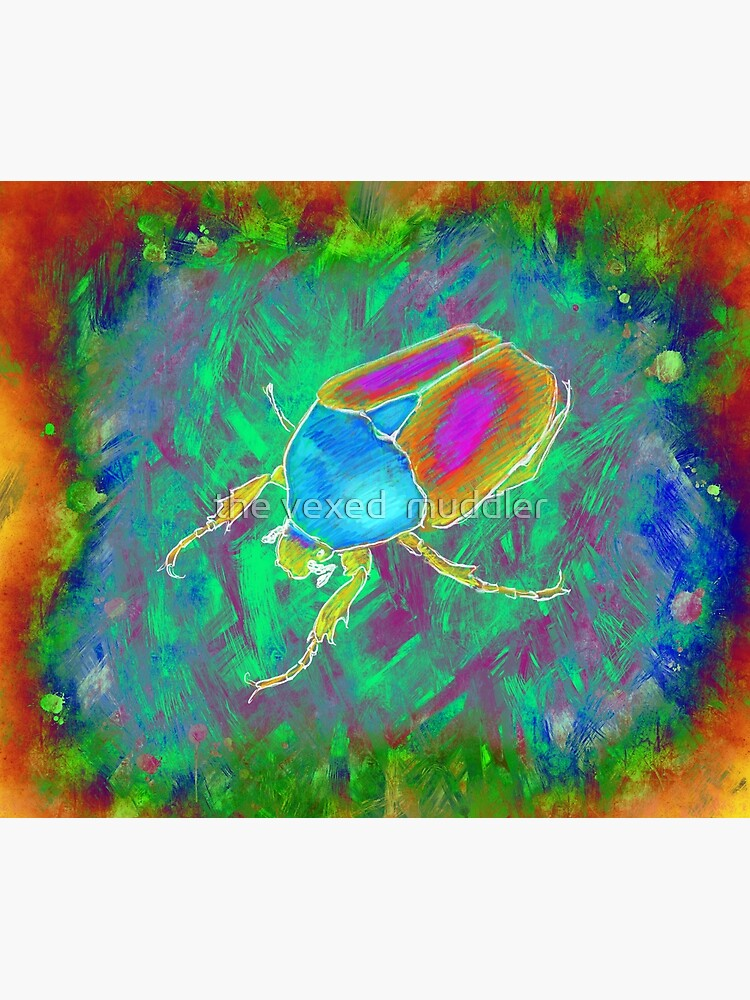 Protaetia cuprea ignicollis (Flower Beetle) - Psychedelic version by thevexedmuddler