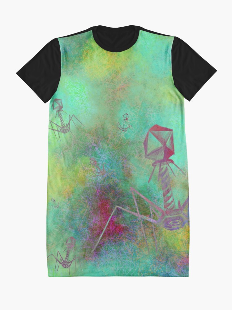 Alternate view of Bacteriophage Invasion  Graphic T-Shirt Dress
