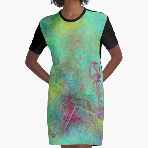 Bacteriophage Invasion  Graphic T-Shirt Dress