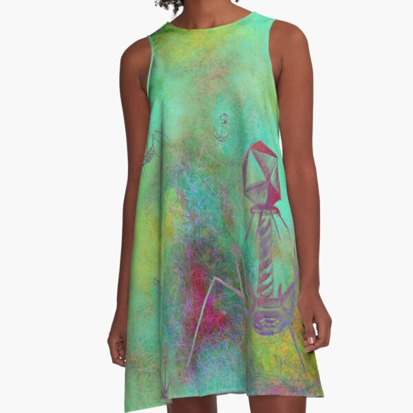 Bacteriophage Invasion  A-Line Dress