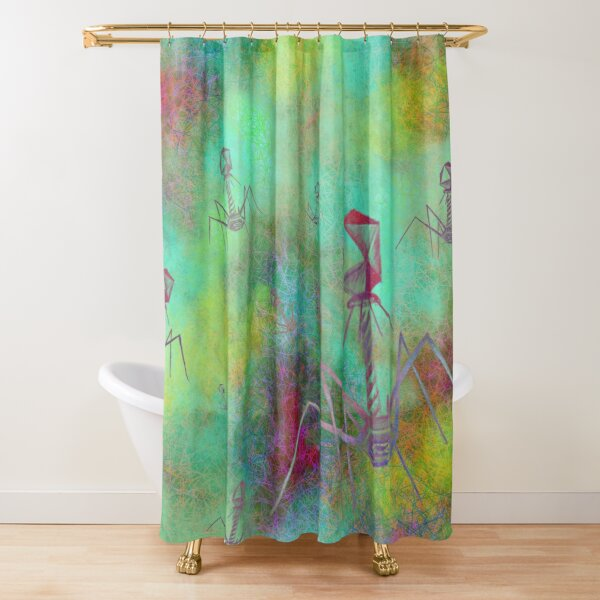 Bacteriophage Invasion  Shower Curtain