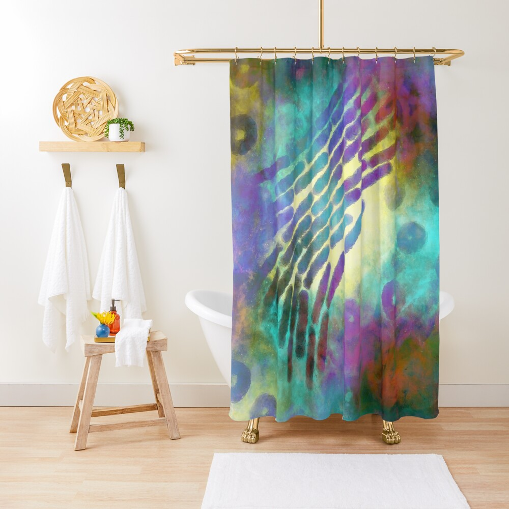 In the beginning there were microbes  Shower Curtain