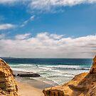 Flat Rock, Torrey Pines, San Diego by Elizabeth Heath