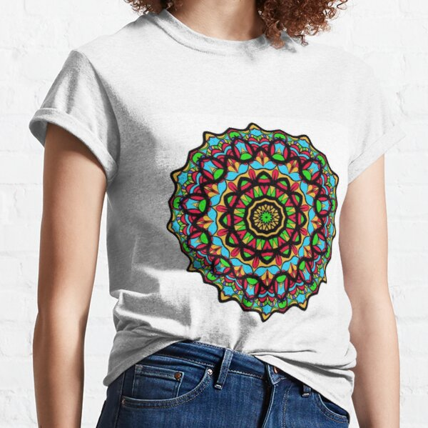 Math, #Sphere, #illustration, #design, #ball, shape, separation, circle, retro style, cartography, physical geography, square Classic T-Shirt