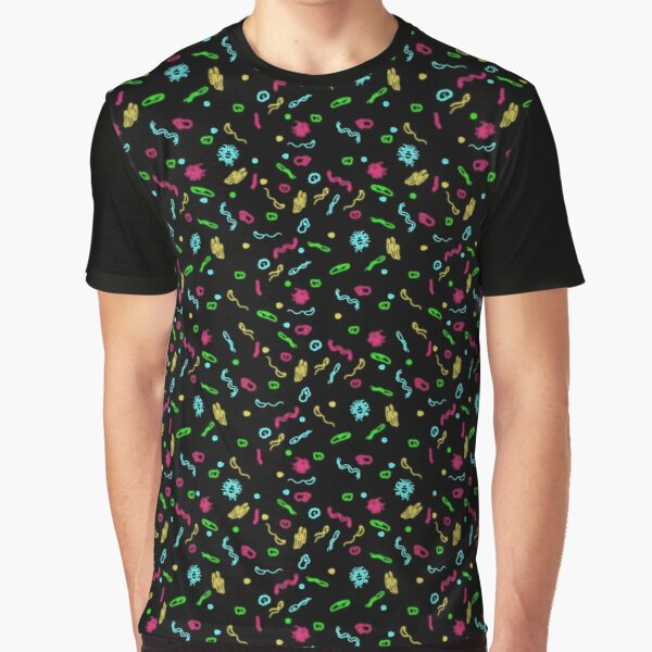 Fluorescent Microbes Graphic T-Shirt