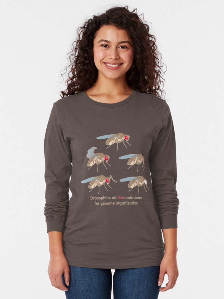 Alternate view of Drosophila Mutations: Ad Hox Solutions for Genome Organization Long Sleeve T-Shirt