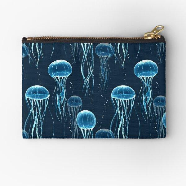 Glowing jellyfish  Zipper Pouch