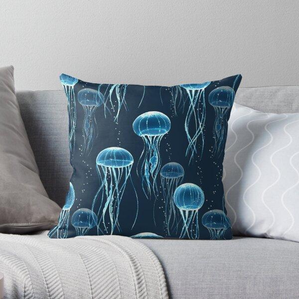 Glowing jellyfish  Throw Pillow