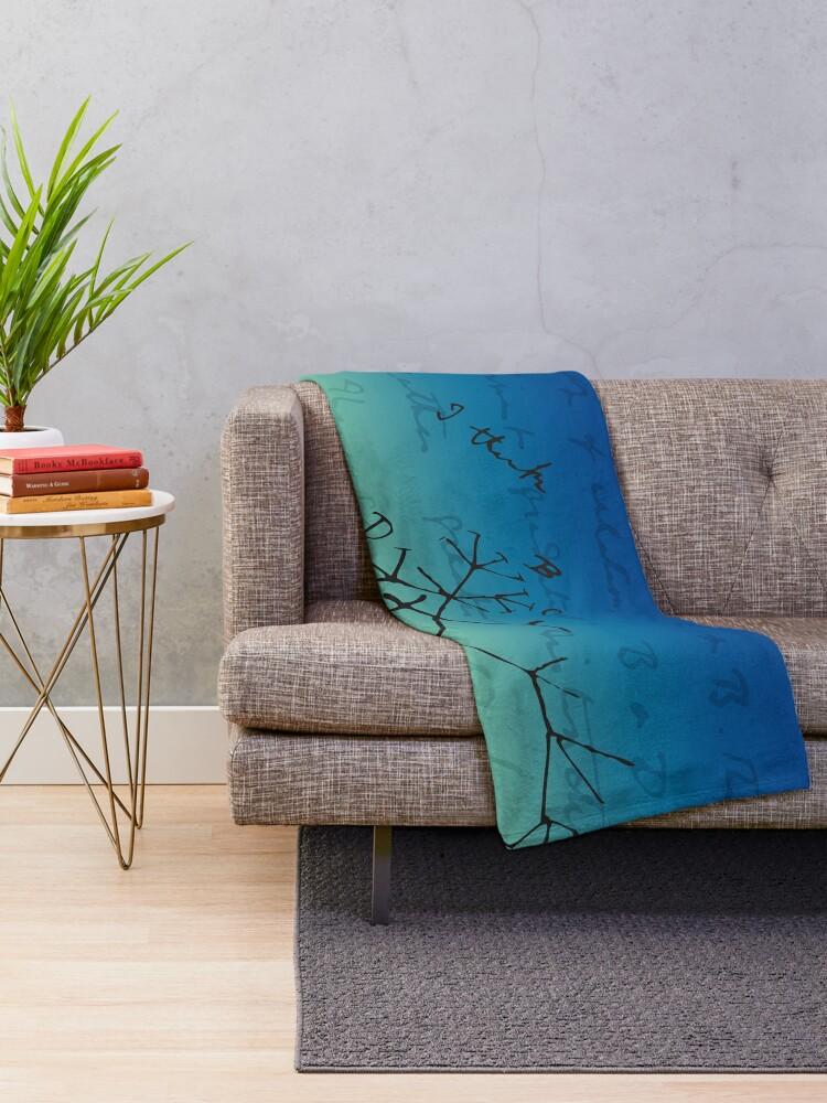 Alternate view of Darwin Thinks Throw Blanket