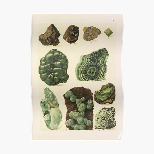 Natural Malachite Poster