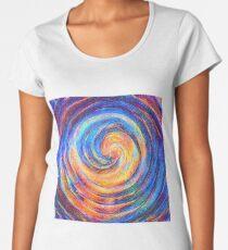 Abstraction of vortex wave Premium Scoop T-Shirt