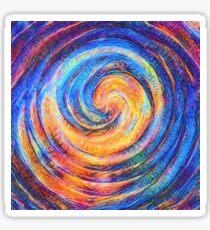 Abstraction of vortex wave Sticker