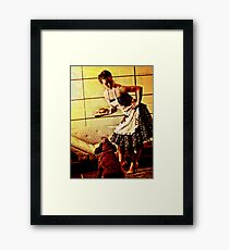 Kirsty - 50s House Wife Framed Print