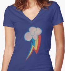 Painted Rainbow Women's Fitted V-Neck T-Shirt