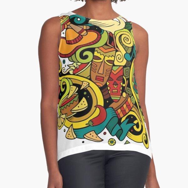 #Sphere, #illustration, #design, #ball, shape, separation, circle, retro style, cartography, physical geography, square Sleeveless Top
