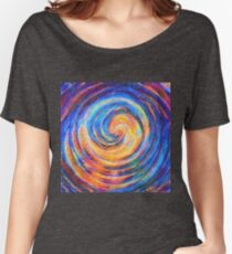 Abstraction of vortex wave Relaxed Fit T-Shirt