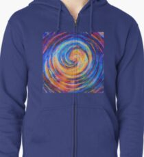 Abstraction of vortex wave Zipped Hoodie