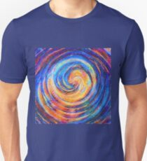 Abstraction of vortex wave Slim Fit T-Shirt