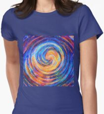 Abstraction of vortex wave Fitted T-Shirt