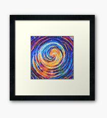 Abstraction of vortex wave Framed Print