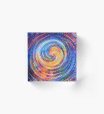 Abstraction of vortex wave Acrylic Block