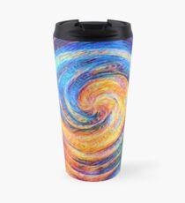 Abstraction of vortex wave Travel Mug