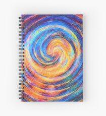Abstraction of vortex wave Spiral Notebook