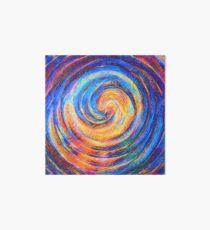 Abstraction of vortex wave Art Board Print