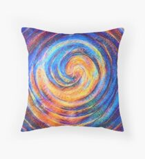 Abstraction of vortex wave Throw Pillow