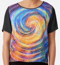 Abstraction of vortex wave Chiffon Top