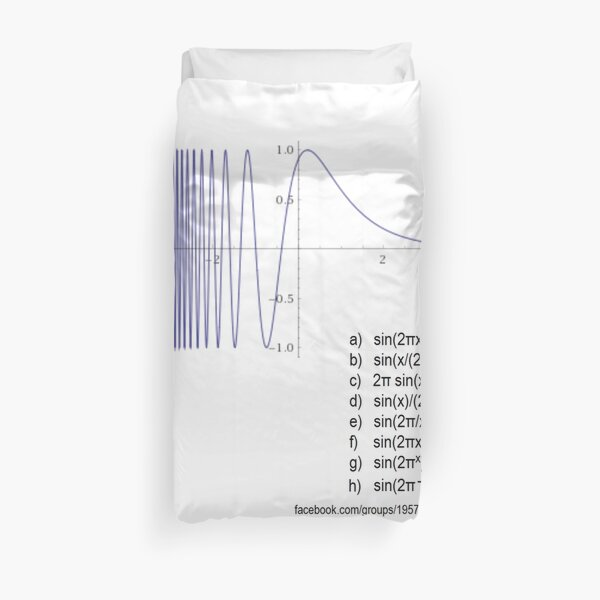 Mathematics, Determine the #Equation from #Graph - #Math, #Calculus Duvet Cover