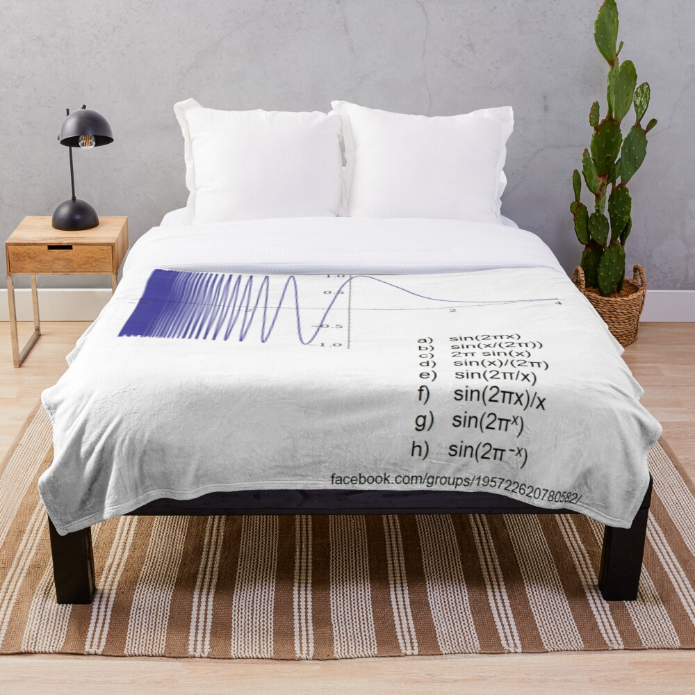 Determine the #Equation from #Graph - #Math, #Calculus Throw Blanket
