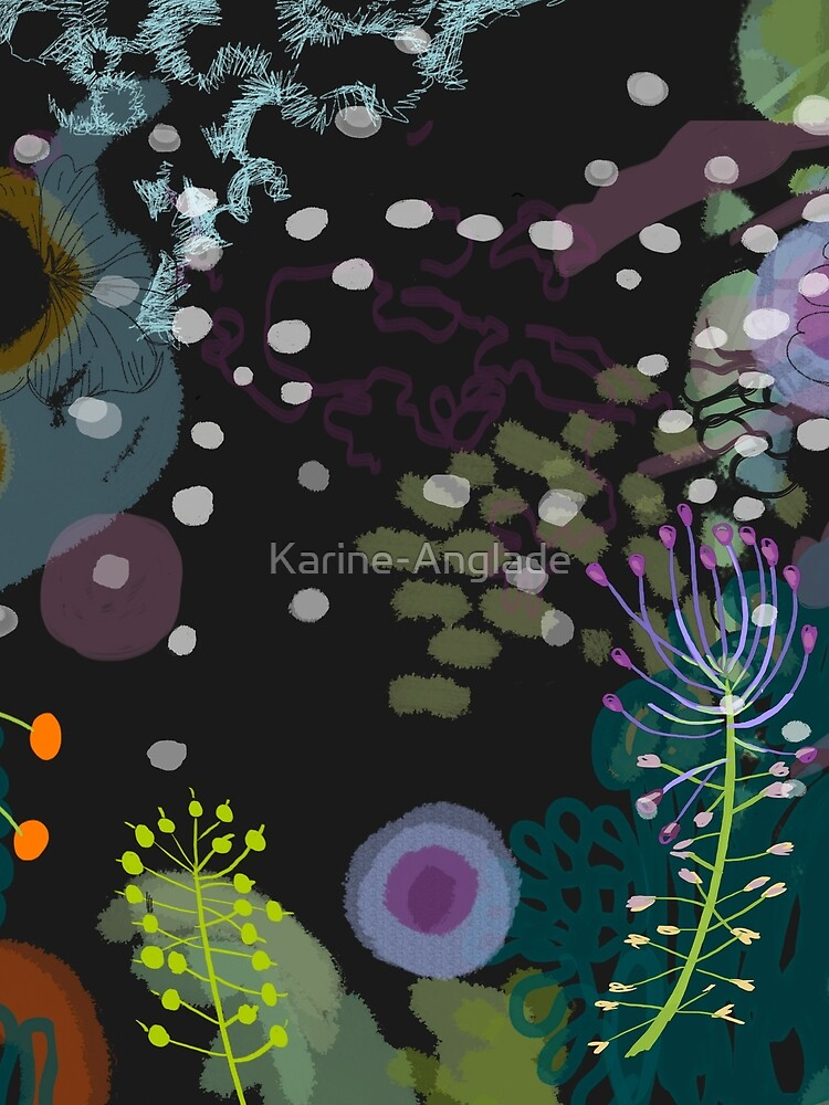 Flower and Snow Shadows Pattern by Karine-Anglade