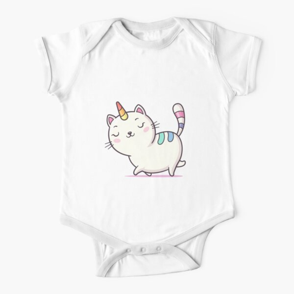 Cat Unicorn Short Sleeve Baby One-Piece