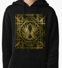 Art Deco Wings-Gold Pullover Hoodie