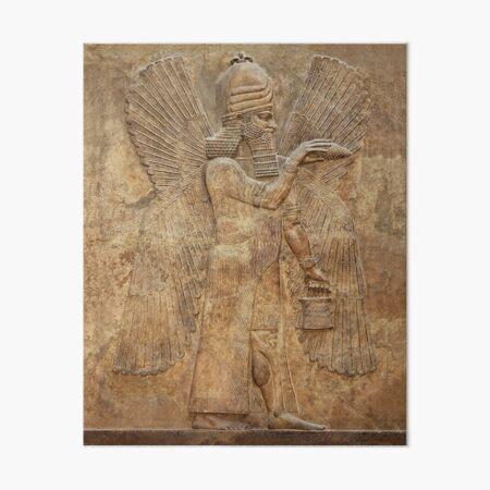 Assyrian Winged Genie/Apkallu (Palace of King Sargon II) Babylon/Sumerian/Anunnaki  Art Board Print