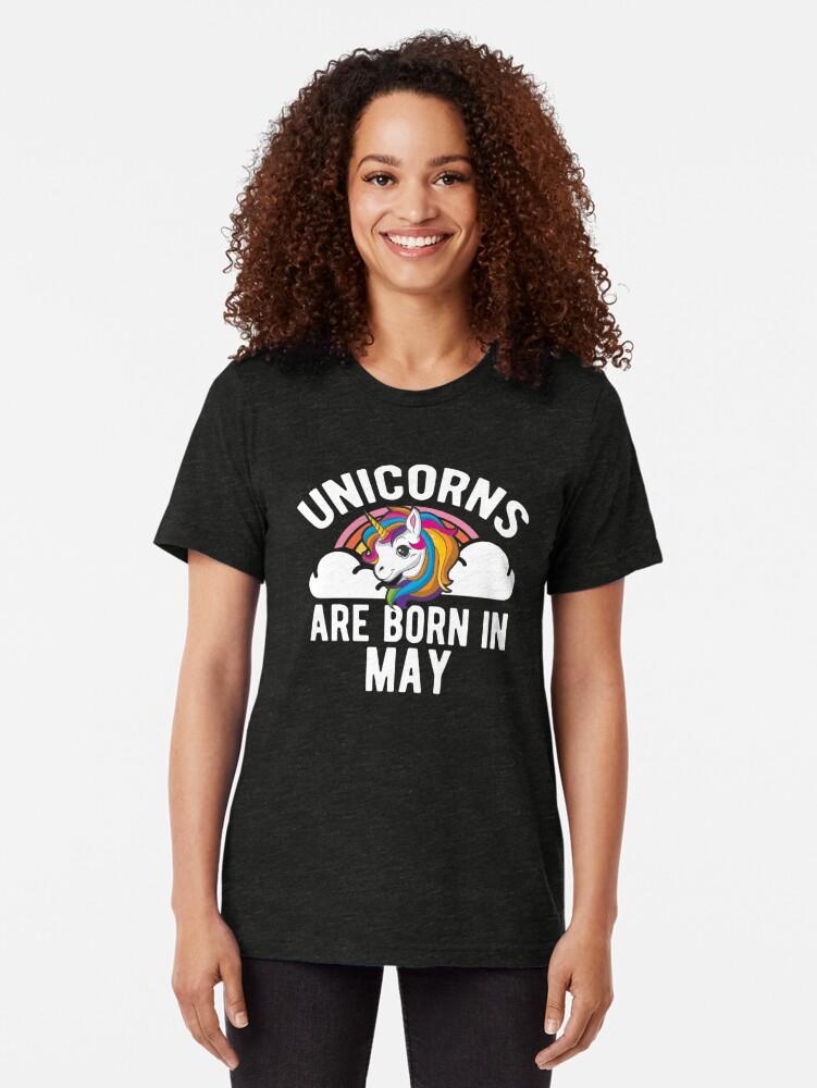 Alternative Ansicht von Unicorns Are Born In May Shirt Birthday Month Gift Tee Vintage T-Shirt