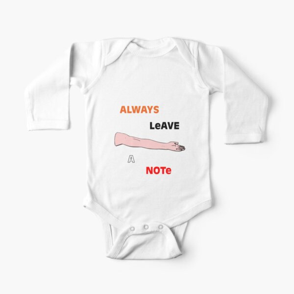 Always Leave a Note Long Sleeve Baby One-Piece