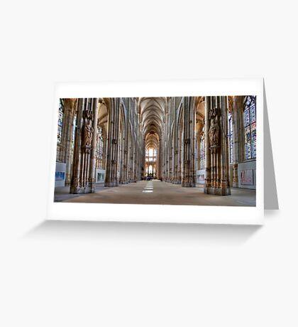 Church of St. Ouen - Internal View Greeting Card