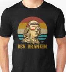 Ben Drankin 4. Juli Vintage Merica patriotischen Unabhängigkeitstag Slim Fit T-Shirt