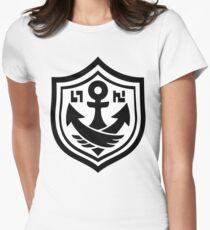 SquidForce White Anchor Tee Women's Fitted T-Shirt