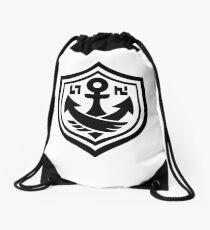 SquidForce White Anchor Tee Drawstring Bag