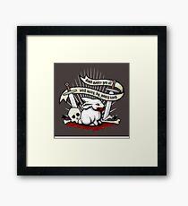 The Rabbit of Caerbannog Framed Print