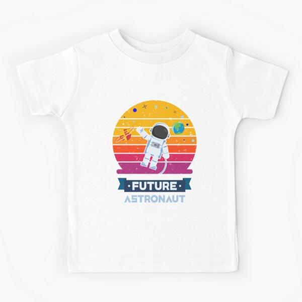 Vintage Retro Future Astronaut T Shirt Astronomy Men Women Kids Kids T-Shirt