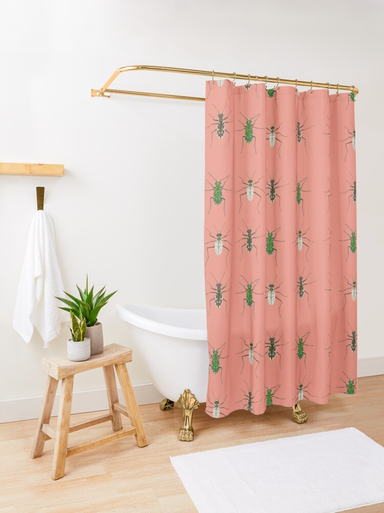 Alternate view of Tiger beetle trio Shower Curtain
