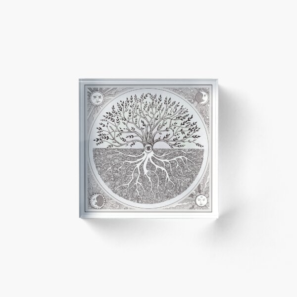 As above, so below- a tree of life Acrylic Block