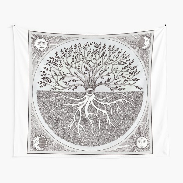 As above, so below- a tree of life Tapestry